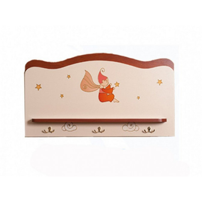 Вешалка с полкой Феи в облаках Крем + яблоня шоколад Вальтер
