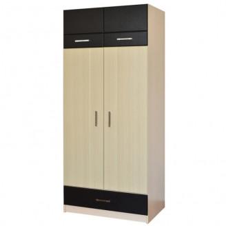 Шкаф 2х дверный 2х секционный Макс Летро