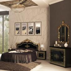 Спальня Дженнифер 3Д черный глянец MiroMark