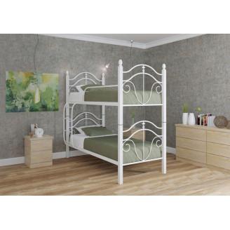 Кровать двухъярусная Диана на деревянных ножках Металл-дизайн