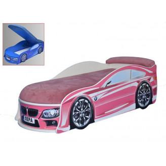 Кровать машина с матрасом BMW с механизмом MebelKon