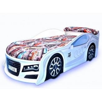 Кровать машина с матрасом Audi MebelKon
