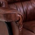 Кресло Конгрес кожа коричневая  +  Вуд Richman