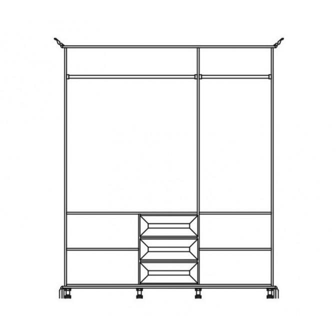 Шкаф 3Д Лацио Мир Мебели