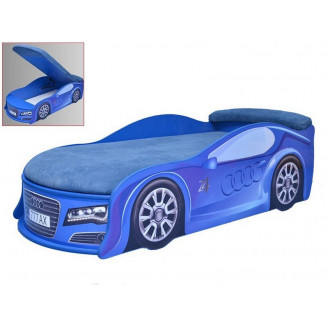 Кровать машина с матрасом Audi с механизмом MebelKon