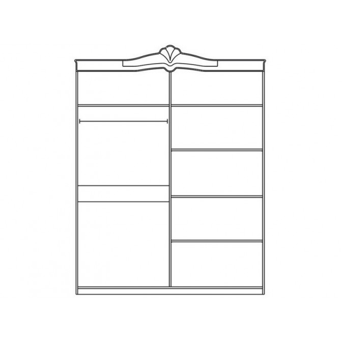 Шкаф 4Д Катрин Мир Мебели