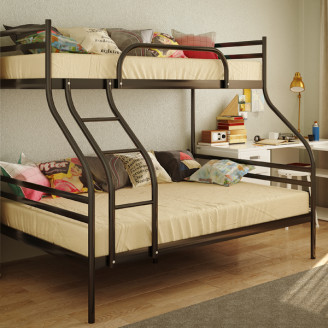 Двухъярусная металлическая кровать Смарт Метакам