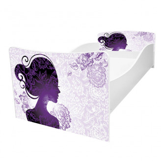 Кровать детская Viorina-deko Kinder-60 Силуэт девушка, фиолетовый new