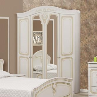 Шкаф Луиза 4Д патина Мир Мебели