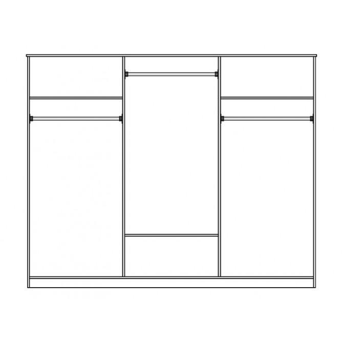 Шкаф Лаура 6Д Мир Мебели