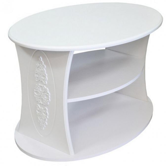 Журнальный стол Анжелика белый супер мат Неман