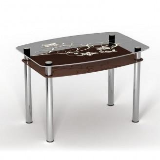 Стол Шоколад двухполочный 120*80 Sentenzo
