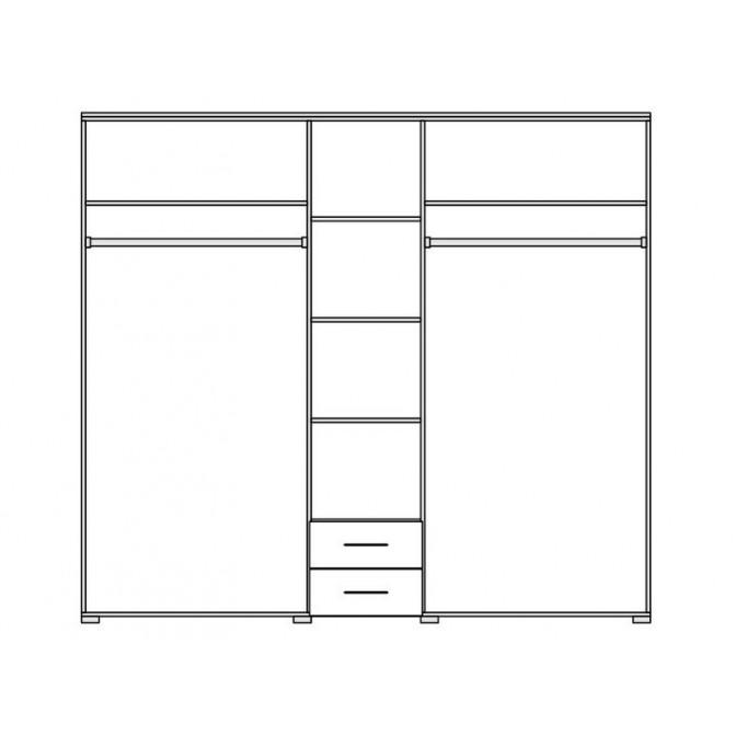 Шкаф Элегия 5Д Мир Мебели