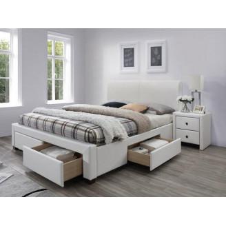 Кровать с ящиками Modena-2 160*200 белая Halmar