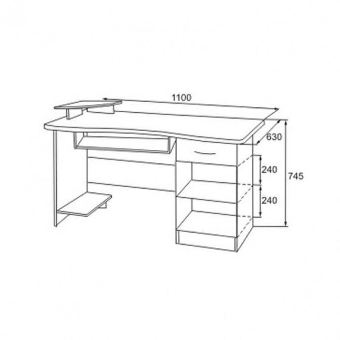 Компьютерный стол СК-1 МДФ Просто Мебли