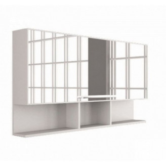 Зеркальный шкафчик MC-Butterfly/ШЗ-Butterfly Белый Fancy Marble