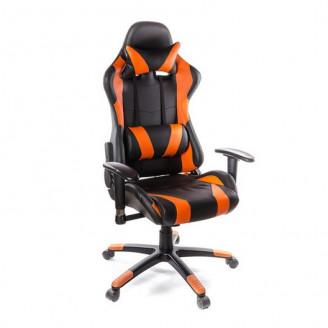 Кресло Хорнет оранжевая экокожа АКлас
