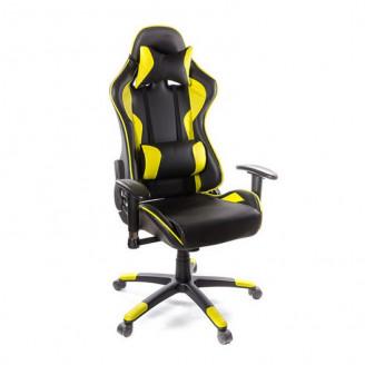 Кресло Хорнет желтая экокожа АКлас