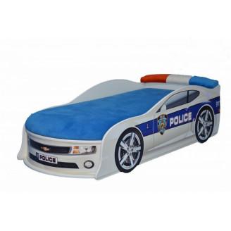 Кровать-машинка с матрасом Chevrolet Camaro Полиция MebelKon