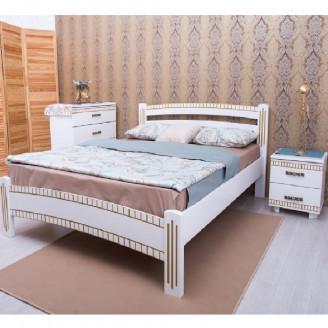 Кровать с фрезировкой Милана Люкс Олимп