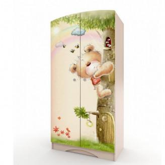Шкаф платяной Мишка с букетом-80 Вальтер