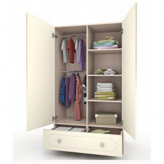 Шкаф платяной Мишка с букетом с ящиком-100 Вальтер