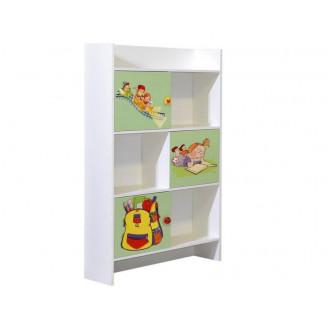 Книжный шкаф Мульти Мир Мебели