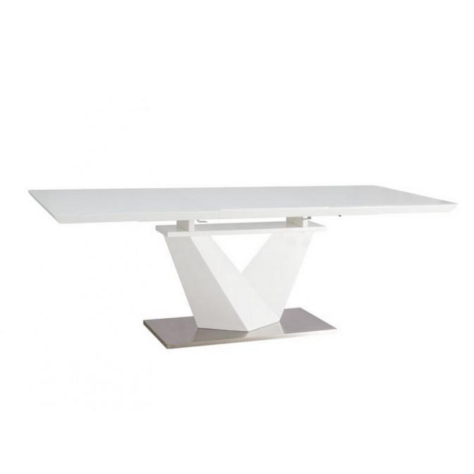 Раскладной стол Alaras III 160 + 60*90*75 белый Signal
