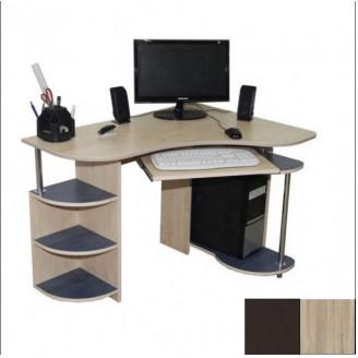 Компьютерный стол Ника Мебель Клио Дуб венге Дуб сонома У-1