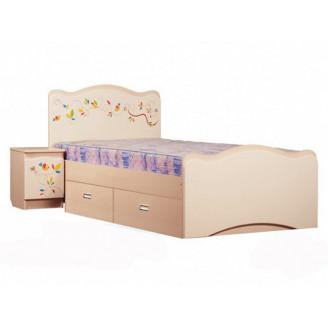 Кровать Цветы жизни  +  ящик 90*190 Вальтер