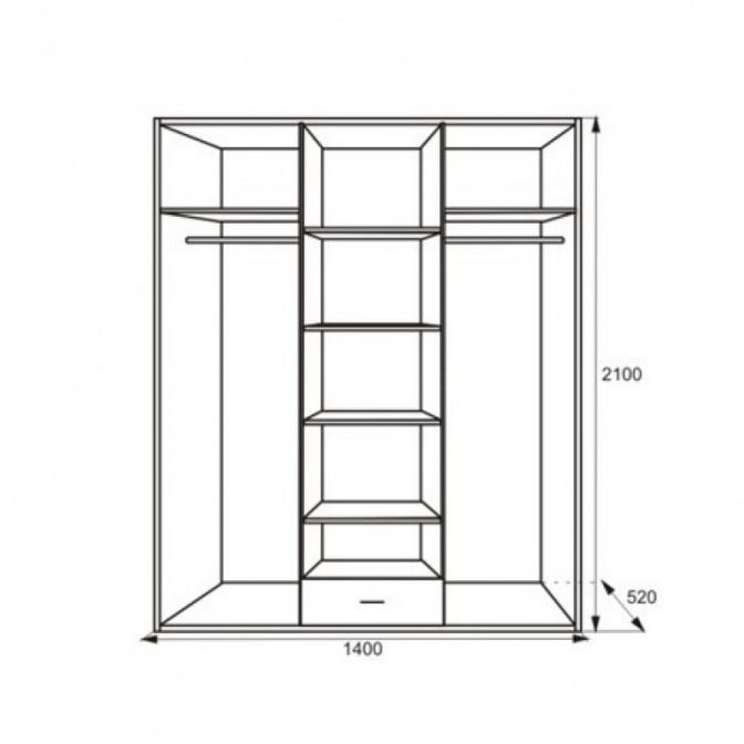 Шкаф Миллениум 3Д Просто Мебли