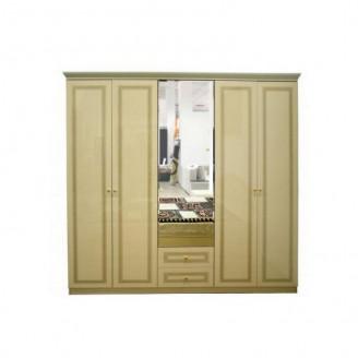 Шкаф 5-дверный Стелла Крем Embawood