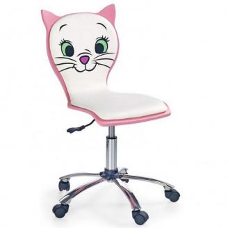 Детское кресло Kitty 2 Белый/розовый Halmar