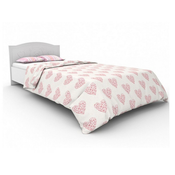 Кровать Мишка без ящиков 90*190 Белый Вальтер