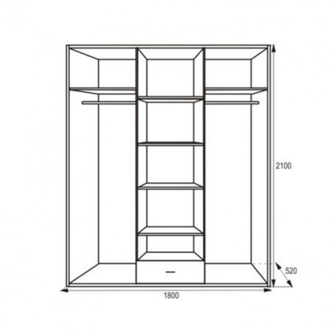 Шкаф Миллениум 4Д Просто Мебли