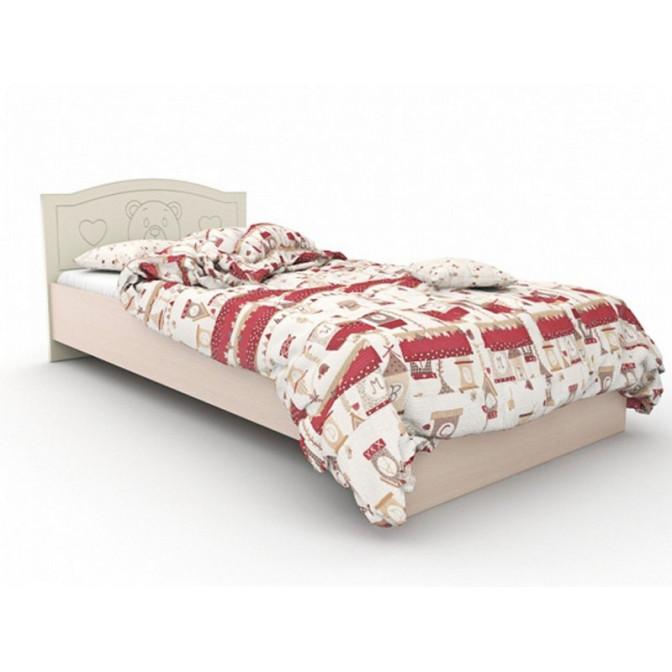 Детская кровать Мишка без ящиков 90*190 Ваниль + венге светлый Вальтер