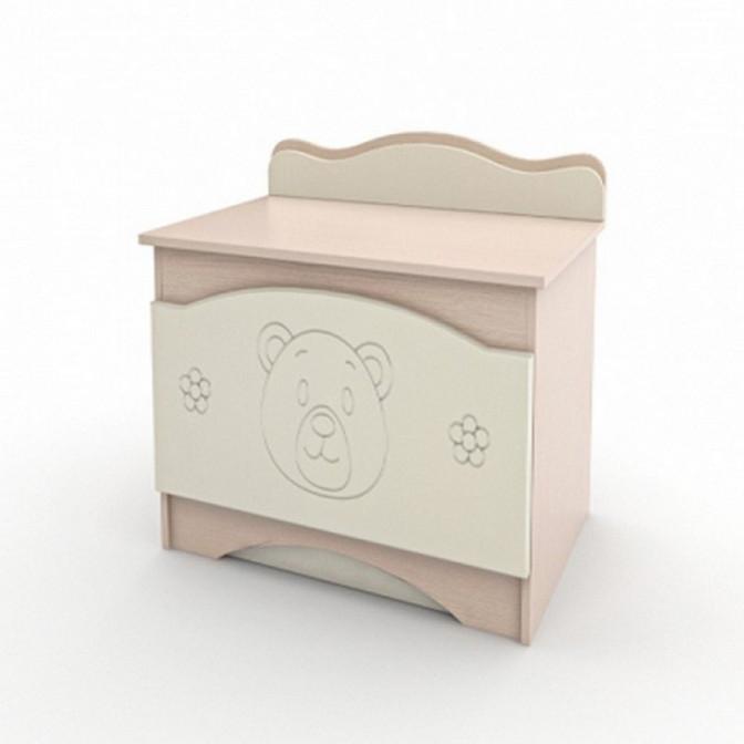 Ящик для игрушек Мишка Ваниль + венге светлый Вальтер