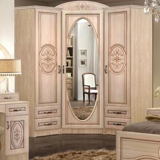 Шкаф угловой  +  2 шкафа 400 с ящиками  +  корона 1200  +  карниз 2,23м Василиса Мастер форм