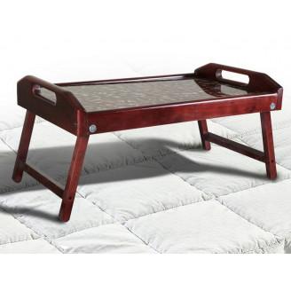 Столик для завтрака стекло + ольха 25*55*35 Микс Мебель