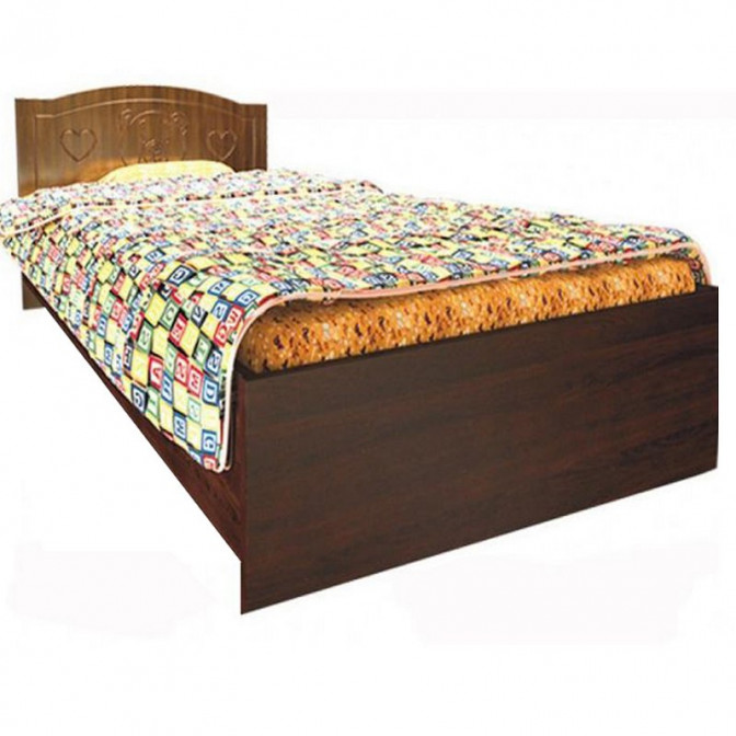 Детская кровать Мишка без ящиков 90*190 Орех + венге темный Вальтер