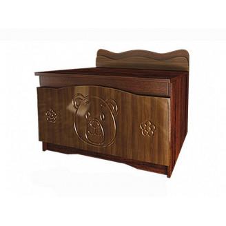 Ящик для игрушек Мишка Орех + венге темный Вальтер